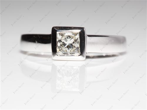 White Gold  Tension Ring Setting