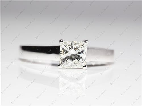 White Gold 1.07 Princess cut Solitaire Diamond Ring