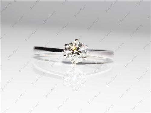 White Gold 0.52 Round cut Solitaire Ring Designs