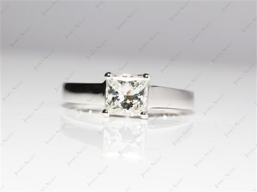 Platinum 1.23 Princess cut Solitaire