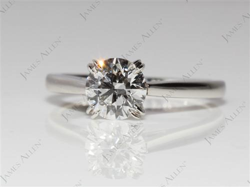 Platinum 0.81 Round cut Solitaire Ring