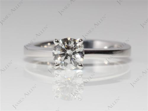 White Gold 0.57 Round cut Solitaire Diamond Rings