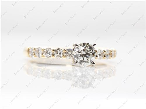 Gold  Engagement Rings With Sidestones