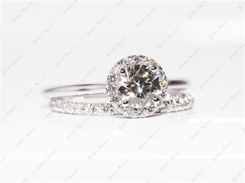 White Gold  Pave Wedding Sets
