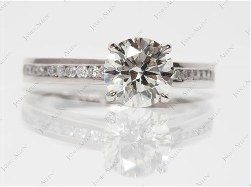 Platinum 1.52 Round cut Channel Diamond Ring