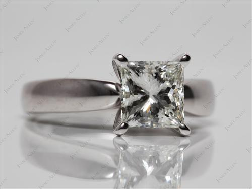 White Gold 1.52 Princess cut Diamond Ring
