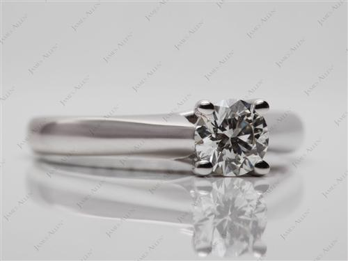 White Gold 0.54 Round cut Engagement Rings
