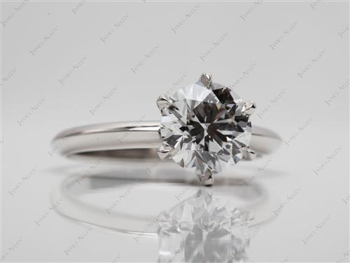 Platinum 1.66 Round cut Diamond Solitaire Rings