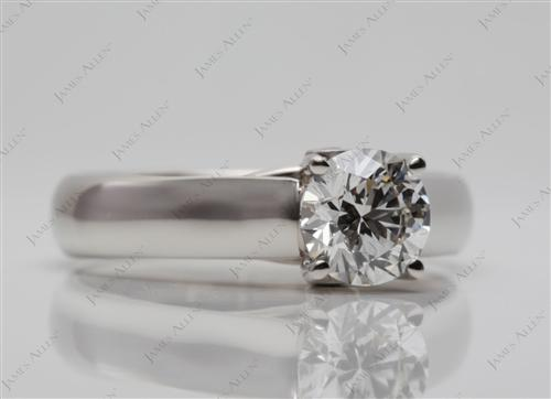 Platinum 0.91 Round cut Solitaire Ring Settings