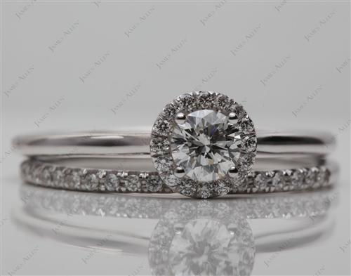 White Gold 0.51 Round cut Diamond Wedding Sets