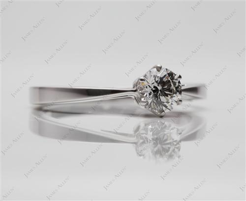 White Gold 0.57 Round cut Solitaire Engagement Ring