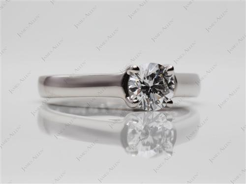 Platinum 0.71 Round cut Diamond Solitaire Ring Settings