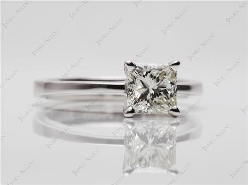 White Gold 0.91 Radiant cut Solitaire