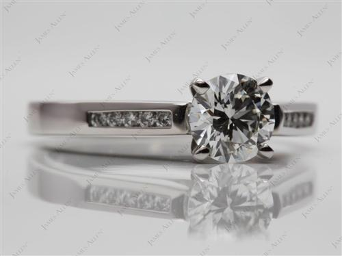 Platinum 0.85 Round cut Channel Set Rings
