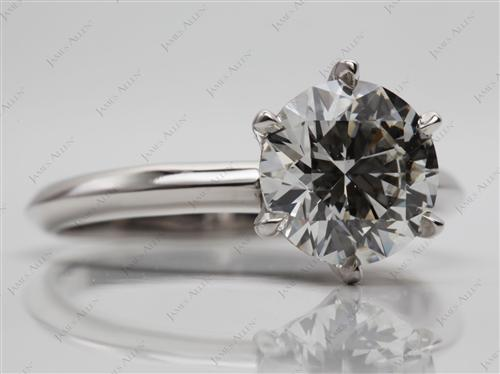 Platinum 2.21 Round cut Solitaire Ring Designs