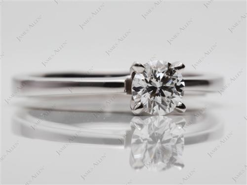 White Gold 0.42 Round cut Diamond Solitaire Engagement Ring