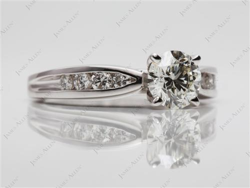 White Gold 0.85 Round cut Channel Setting Ring