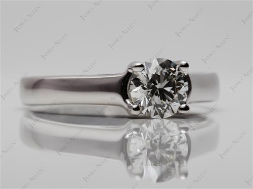 White Gold 0.71 Round cut Diamond Engagement Solitaire Rings