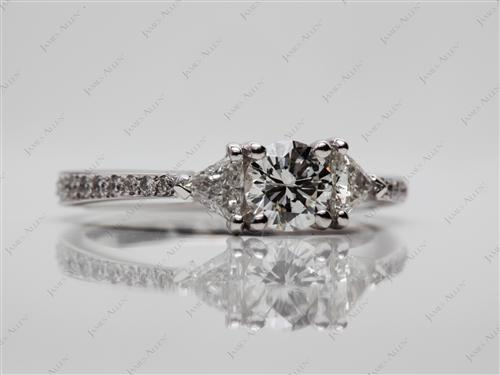 White Gold  Pave Engagement Rings