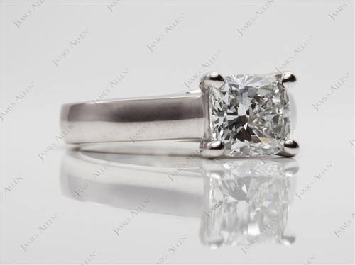 Platinum 1.50 Cushion cut Diamond Engagement Solitaire Rings