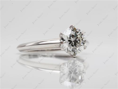 Platinum 1.26 Round cut Solitaire Diamond Rings