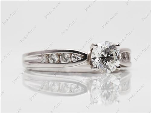White Gold 0.75 Round cut Channel Setting Ring