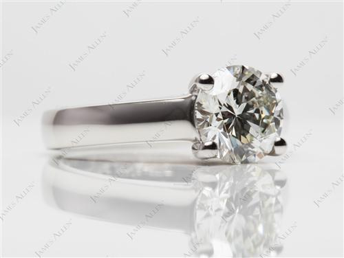 Platinum 1.52 Round cut Diamond Engagement Solitaire Rings