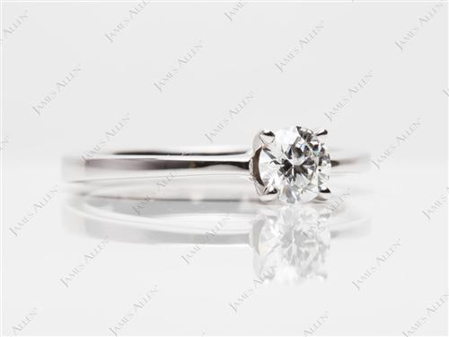 White Gold 0.40 Round cut Diamond Solitaire Engagement Ring