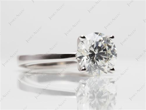 White Gold 1.70 Round cut Solitaire Ring Settings
