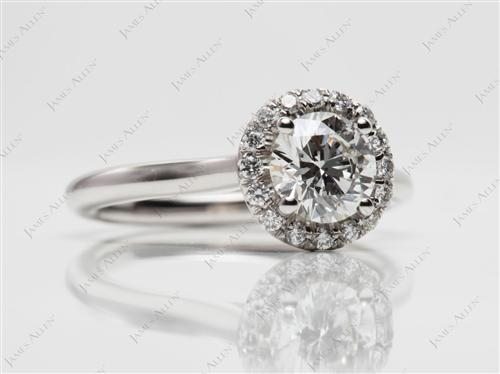 Platinum 0.70 Round cut Diamond Wedding Rings