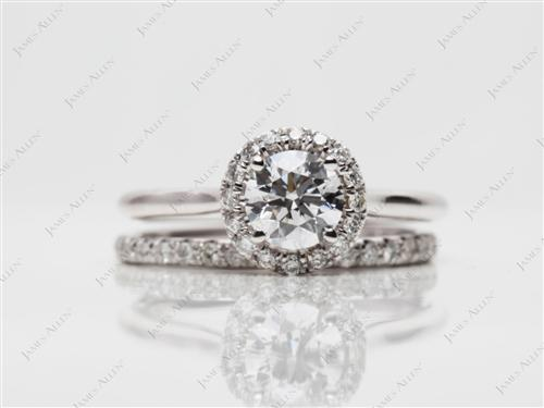 White Gold 0.62 Round cut Wedding Sets