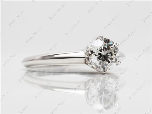 Platinum 0.82 Round cut Solitaire Ring Setting