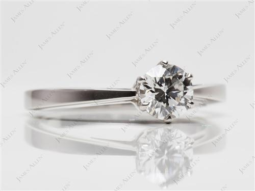 Platinum 0.72 Round cut Diamond Solitaire Rings