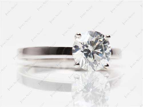 Platinum 1.80 Round cut Solitaire
