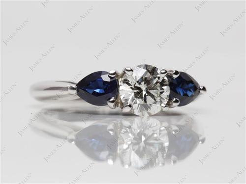 White Gold  Emerald Cut Rings