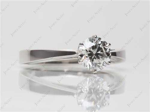 Platinum 1.07 Round cut Solitaire Ring Mountings
