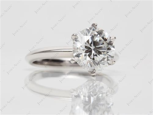Platinum 2.39 Round cut Diamond Solitaire Ring Settings