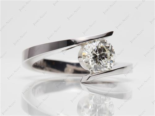 White Gold 1.04 Round cut Solitaire Ring Settings