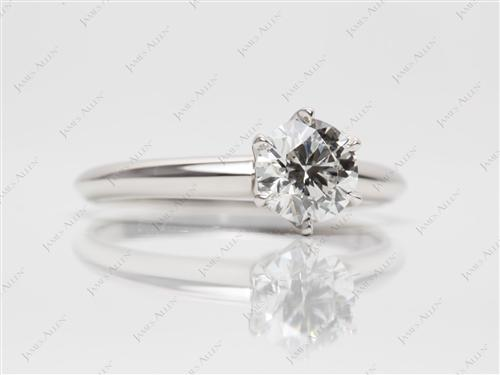 Platinum 0.81 Round cut Solitaire Ring Setting