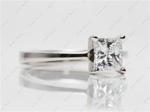 Platinum 1.09 Princess cut Solitaire Ring Designs