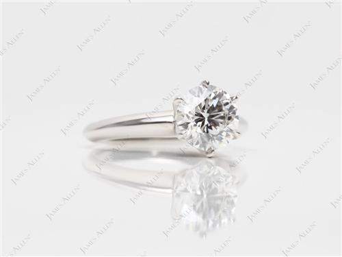 Platinum 1.01 Round cut Solitaire Ring Mountings