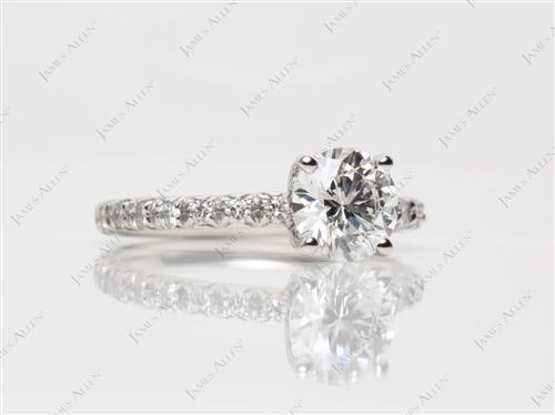 Platinum 1.23 Round cut Diamond Rings