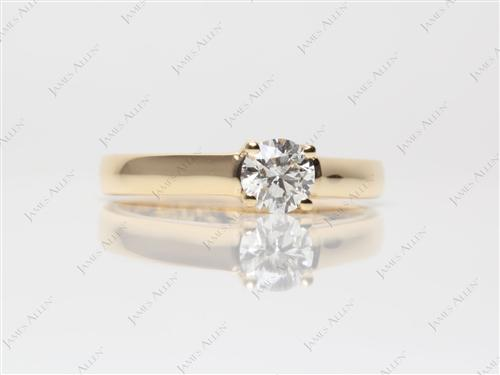 Gold 0.51 Round cut Engagement Ring