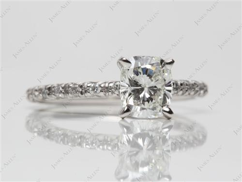 Platinum 1.01 Cushion cut Bridal Wedding Sets