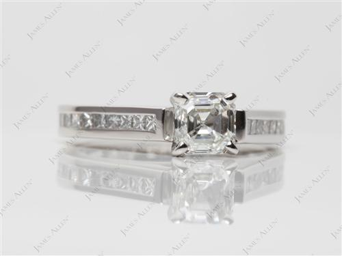 Platinum  Channel Set Engagement Rings