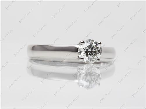 Platinum 0.64 Round cut Solitaire Ring Settings