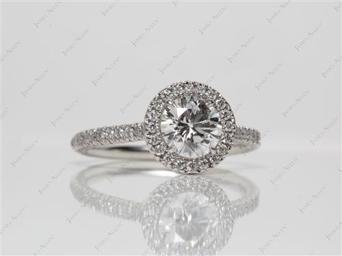 Platinum 0.97 Round cut Pave Ring