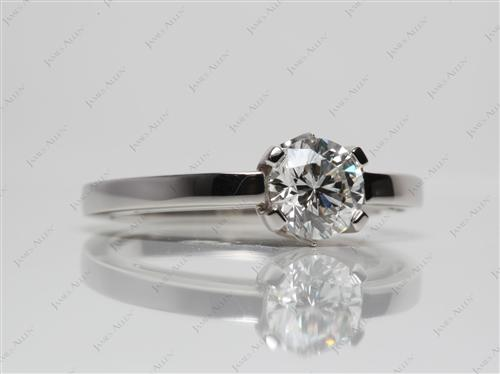 Platinum 0.91 Round cut Solitaire Engagement Rings
