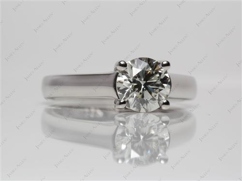 Platinum 1.29 Round cut Engagement Ring