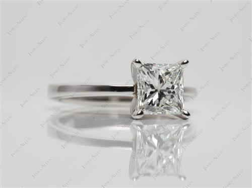Platinum 1.72 Princess cut Solitaire Rings